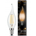 Лампа Gauss LED Filament Candle tailed E14 5W 2700K, 104801105, 197.00 руб., Лампа Gauss LED Filament Candle tailed E14 5W 2700K, Gauss, Лампа Gauss LED Filament